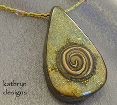Handmade teardrop necklace by KathrynDesigns I would like to make a stamp like this swirl