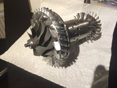 Gas turbine project Part 1 Mechanical Gears, Gas Turbine, Jet Engine, Mini Bike, Rockets, Inventions, Engineering, Racing, Metal