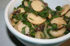 Quick and Easy Swiss Chard, Mushroom,and Potato.