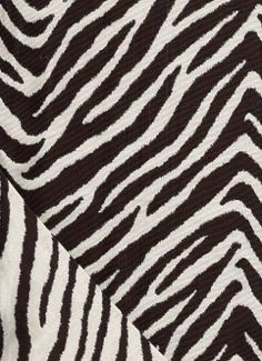 "Bangal Jet    Reversible pocket weave zebra stripe tapestry. Multi Purpose weight, 54"" wide"