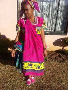Xitsonga African Traditional Wear, Traditional Dresses, Traditional Wedding, African Children, African Women, African Attire, African Dress, Africa People, African Fashion Ankara