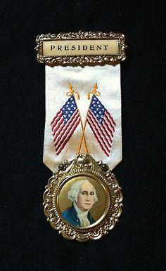 Vintage George Washington Celluloid Picture Button  - President