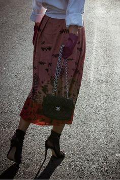 Malena Skirt (Pink) K Ara, Lace Wrap, City Streets, Perfect Match, Midi Skirt, High Waisted Skirt, Fall Winter, High Heels, Runway