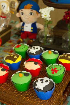 Jake and the Neverland Pirates themed birthday party with Lots of Really Great Ideas via Kara's Party Ideas | Cake, decor, cupcakes, games and more! KarasPartyIdeas.com