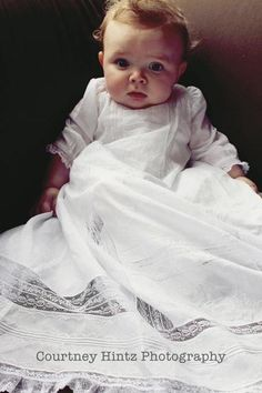 The Old Fashioned Baby Sewing Room - beautiful ideas.even if most are a bit girly. Baby Christening Gowns, Baptism Gown, Blessing Dress, Baby Blessing, Skirt Patterns, Coat Patterns, Blouse Patterns, Sewing Patterns, Baby Sewing Projects