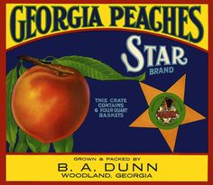 Georgia+Peaches+Refrigerator+Magnet++FREE+US+by+LABELSTONE+on+Etsy,+$4.75