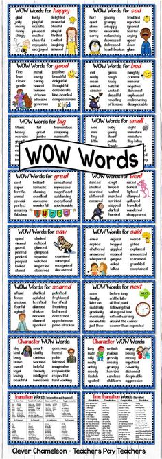 Other ways to say Said Went Scared Big Small Sad Happy Saw Next Great Good Bad Positive Character Words Negative Character Words Time Transition Words for Narratives and. Teaching Writing, Writing Skills, Essay Writing, Writing Tips, Narrative Essay, Writing Workshop, Writing Activities, Creative Writing, The Words
