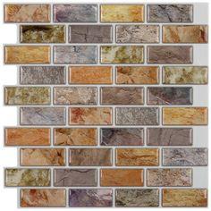 Adhesive Mosaic Tile Backsplash Color Subway 10 Pieces L N Stick Sq