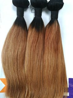 ombre hair stocks in straight , wave and curly  www.ladayhair.com  whatsapp +86-15053283923