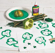 A colorful art activity to celebrate St. Patrick's Day!