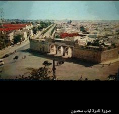 CULTURE et PATRIMOINE DE TUNISIE EN IMAGES- MOHAMED HAMDANE-ثقافة وتراث تونس في صور: Portes de la médina de TUNIS / BAB SAADOUN , jadis