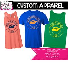 CUSTOM APPAREL: Custom Vacation/Cruise T-Shirt/Tank Top