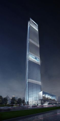 Guangfa Securities Headquarters, Guangzhou, China by Jaeger and Partner Architects :: 62 floors, height 308m