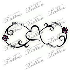 Tattoo with kids names   4 kids name #280572   CreateMyTattoo.com