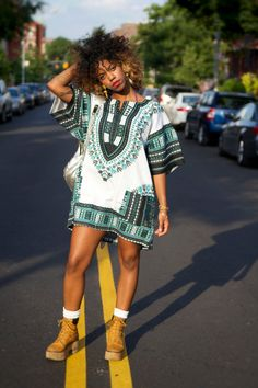 Unisex Dashiki White Teal Turquoise African Shirt - Kings and Queens - More Colors!