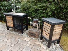 wok k che aussenk che outdoork che outdoor kitchen grillen pinterest aussenk che. Black Bedroom Furniture Sets. Home Design Ideas