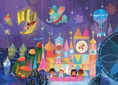 Mural for Disney Tokyo Celebration Hotel by Joey Chou - Closeup # 3