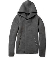 Kolor Wool-Blend Jersey Hoodie | MR PORTER    In a world in which I spend $900+ on a hoodie for my husband, this would be my #1 pick...ah, to dream...