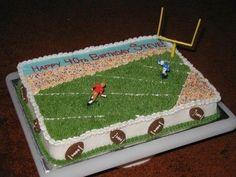 Football Cake (Wilton Design) - Done per a design on the Wilton Site. Came out almost exactly like their picture! Wilton Cake Decorating, Wilton Cakes, Cake Ideas, Birthdays, Football, Design, Anniversaries, Soccer, Futbol