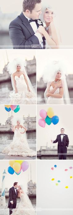 Balloon wedding day shots