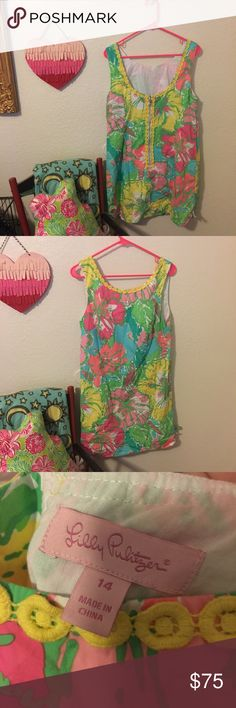 Lilly Pulitzer Delia Shift Dress EUC! Print is big flirt. Absolutely NO TRADES. Open to reasonable offers! No lowballing please Lilly Pulitzer Dresses Midi
