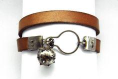 Bracelet, Clodoveo. Oxidized silver, steel, leather.  By Zero43