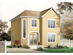 Glad Valley Narrow Lot Home  from houseplansandmore.com