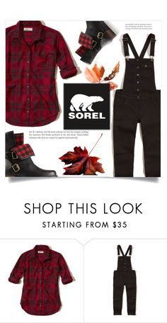"""""""Kick Up the Leaves (Stylishly) With SOREL: CONTEST ENTRY"""" by dolly-valkyrie ❤ liked on Polyvore featuring Hollister Co., SOREL and sorelstyle"""