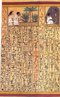 Papyrus of Ani: http://www.slideshare.net/rodjemalcolm/papyrus-of-ani-egyptian-book-of-the-dead