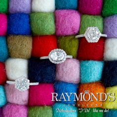 Petite #diamond bands with #halos are in!  Add a stackable #ring for the wedding band to make your own style! www.raymondsjewellers.com #SiouxFalls #EngagementRings