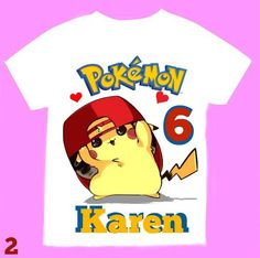 Pokemon Birthday Girl Shirt Personalized with by FantasyKidsParty