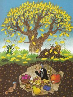 Muldvarpen sidder i hulen og spiser La Petite Taupe, Weather For Kids, Kids Art Class, Up Book, Seasons Of The Year, Autumn Activities, Cartoon Pics, Science Art, Stories For Kids