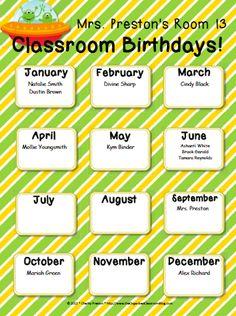 Celebrating Student Birthdays! - The Organized Classroom Blog  http://www.theorganizedclassroomblog.com/index.php/blog/celebrating-student-birthdays
