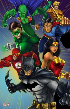 The Justice League :Collab: by TyrineCarver.deviantart.com on @DeviantArt