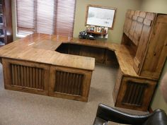 rustic office desk. Rustic Office Desk With Hutch. Reclaimed Wood Look, Aged Barn Tin, Steel Corbels O