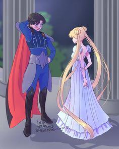 Darien Sailor Moon, Sailor Moon Usagi, Sailor Jupiter, Sailor Venus, Sailor Mars, Sailor Moon Hair, Sailor Moon Fan Art, Sailor Moon Character, Sailor Moon Crystal