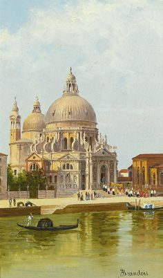 ANTONIETTA BRANDEIS 1849 - 1920 CZECH SAN MARCO DELLA SALUTE, VENICE signed A. Brandeis lower right oil on panel 24.5 by 15.5cm., 9¾ by 6in.