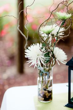simple curly willow arrangement with spider mums.other flowers can be used also. Wedding Shower Decorations, Flower Decorations, Wedding Centerpieces, Flower Centerpieces, Ikebana, Floral Wedding, Wedding Flowers, Wedding Pins, Wedding Ideas