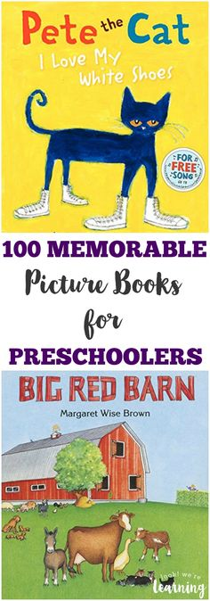 These memorable picture books for preschoolers include classic stories and modern titles for parents and kids to share! Great list of storybooks, picture books, and stories for preschoolers. Preschool Books, Preschool Learning, Book Activities, Preschool Activities, Preschool Curriculum, Learning Toys, Best Children Books, Childrens Books, Kid Books