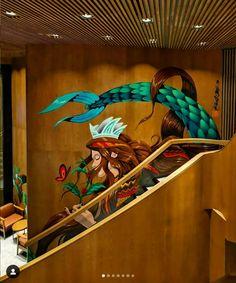 Starbucks Siren, Starbucks Reserve, New Artists, Tropical, Kuala Lumpur, Chai, Painting, Painting Art, Paintings