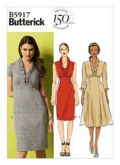 B5917 Bodice and skirt might be ok, but don't like the sleeves, back, or neckline
