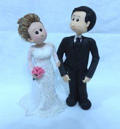 Topo de Bolo de Noivos Fofinhos . wedding / biscuit / bride