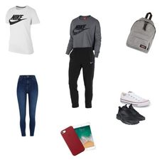 """""""Outfit ✈️🇿🇦"""" by lifestyle-outfits on Polyvore featuring mode, NIKE, Eastpak, River Island, Converse en Apple"""