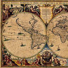 23 best old world map printable images on Pinterest | Antique world ...