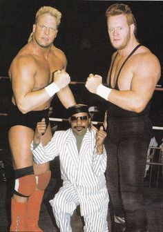 The Skyscrapers, Dan Spivey and Mark Callous with Teddy Long    Sometimes it's really hard to predict who's going to be big in wrestling. Mark Callous didn't seem like anything special before he became The Undertaker.