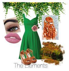 """""""Elements Earth"""" by centenofranme ❤ liked on Polyvore featuring beauty, Kayleen and Dolce&Gabbana"""