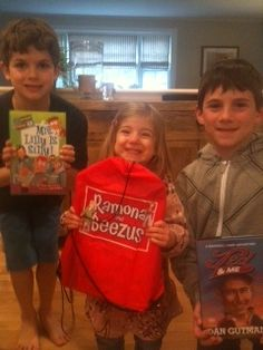 Sawyer, Raedyn, and Drew from Cape Cod, MA love to Drop Everything And Read!
