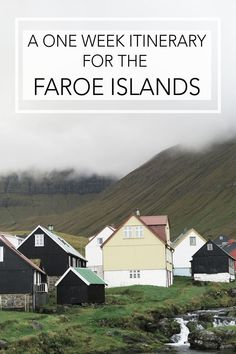 a one week itinerary for the faroe islands