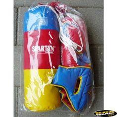 Sac de box pentru copii Spartan Tricolor