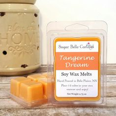We have new Spring scents! Tangerine Dream is a strong citrus scent perfect for Spring.